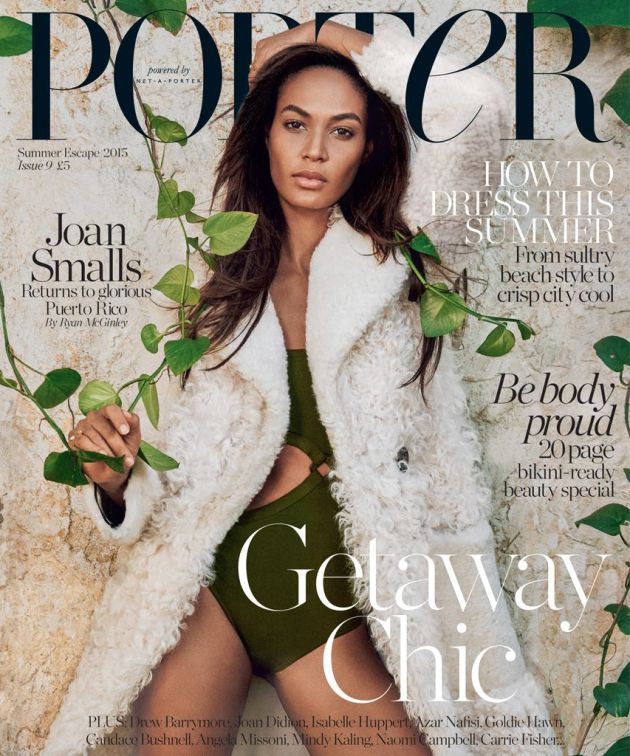 Joan Smalls Covers Porter Magazine Summer 2015 | Photographer Ryan McGinley