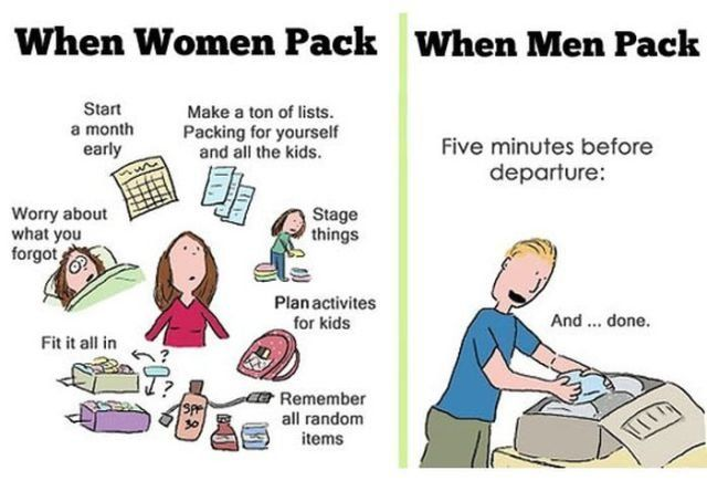 This is what makes men and women different ...