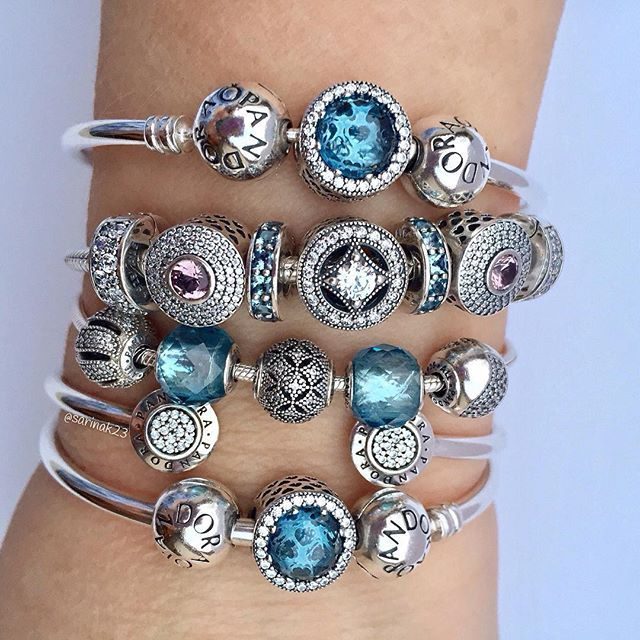 It looks like a frosty stack but has a beautiful, warming glow. #pandorabracelets #pandorabeads #pandorastyle #theofficialpandora #myarmparty #pandoraaddict #uniqueasyouare #winterblues #blush #crystals #silverbracelets #essence #friendship #compassion #radianthearts #pandorastyle