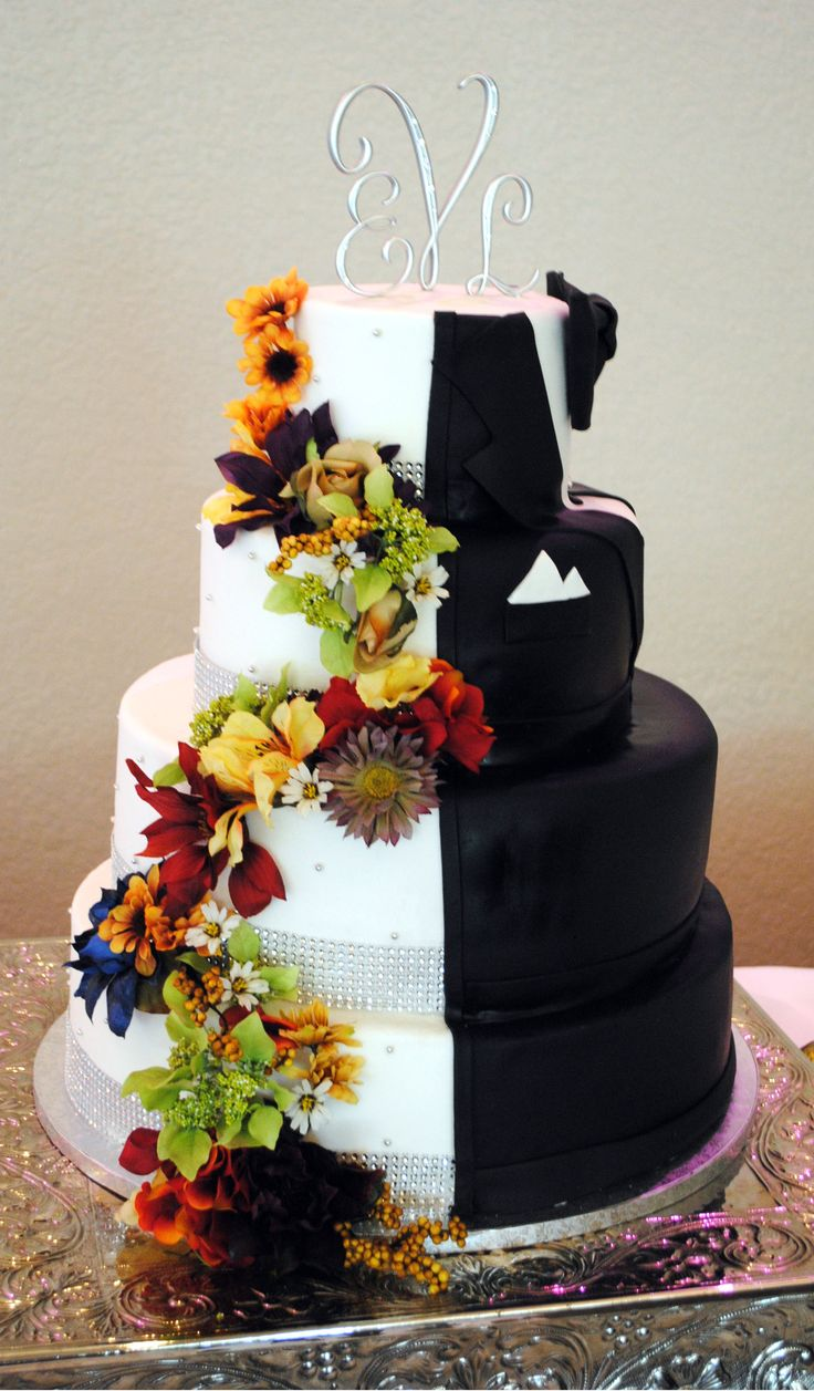 half bride half groom fall wedding cake custom cakes pinterest wedding cake cake and. Black Bedroom Furniture Sets. Home Design Ideas