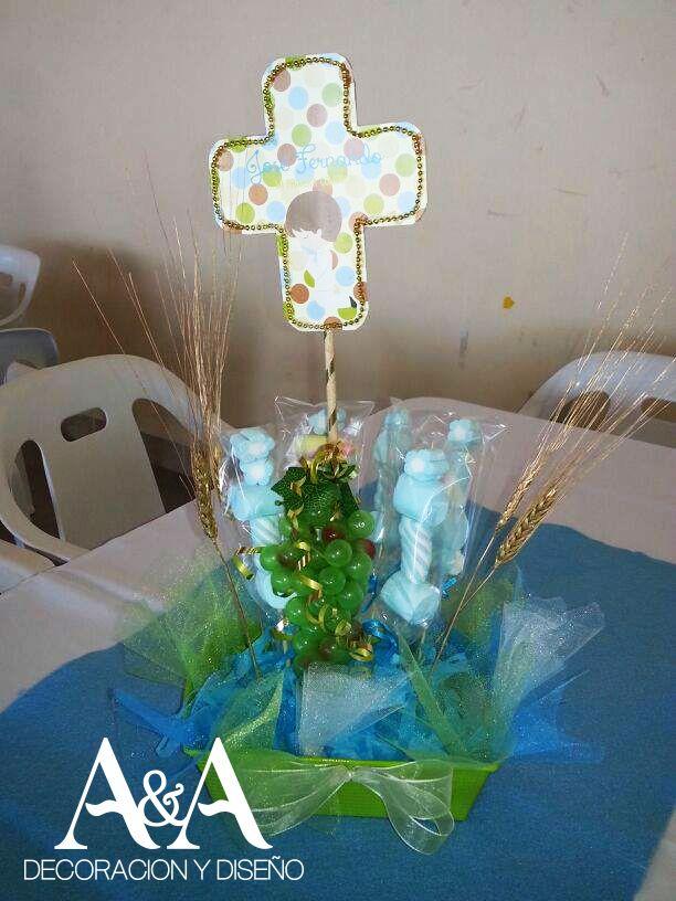 250 best images about centros de mesa bautizmo primeras - Centros de mesa comunion ...