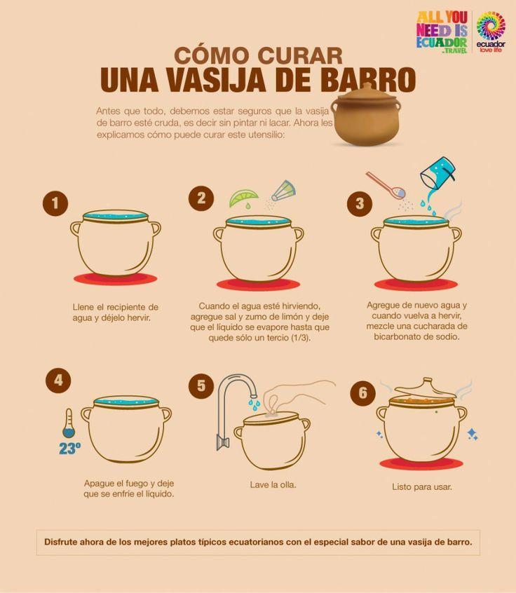 Cómo curar una vasija / olla de barro