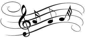 Výsledek obrázku pro siluet music notes