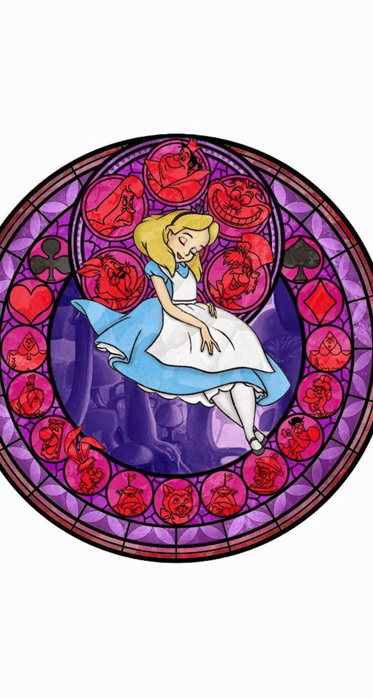 Disney Stain glass: Alice in Wonderland