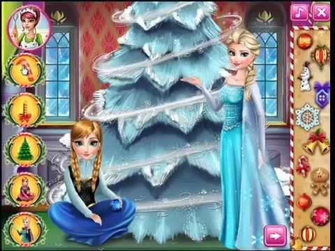 Frozen Disney Elsa Anna Frozen perfect christmas tree videos games for kids - YouTube