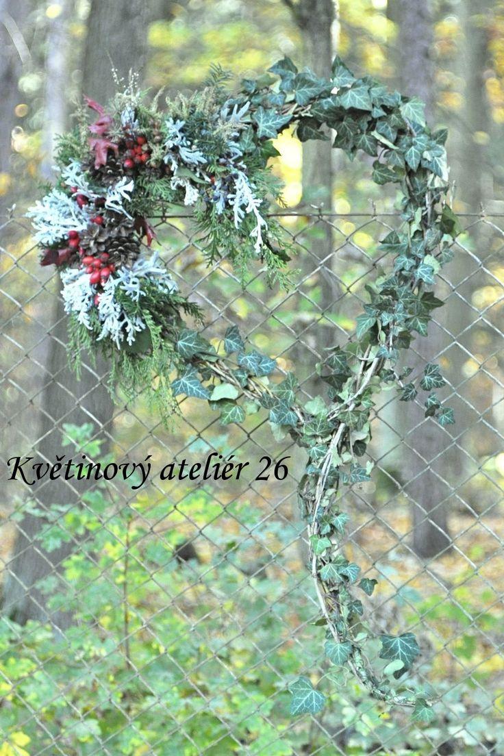 fotogalerie – Květinový Ateliér 26 #heart #ivy #wicker #kvetinovyatelier26