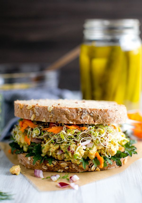 Smashed Chickpea Salad Sandwich