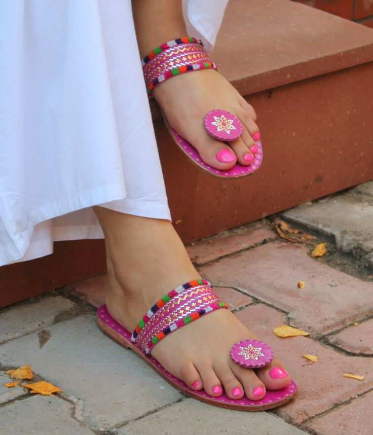 Pretty in pink! Hand made footwear, from Rajasthan, of course!
