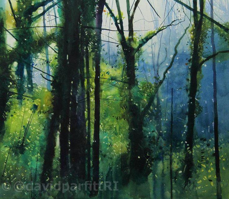 """David Parfitt RI on Twitter: """"New painting; 'Sentinels' watercolour 15x17ins"""