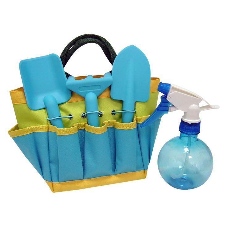 Kids Gardening Set With Sprayer - Blue - Ray Padula
