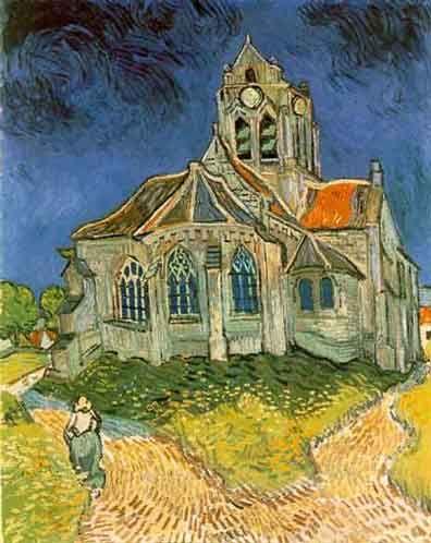 La iglesia de Auvers  Vicent Van Gogh