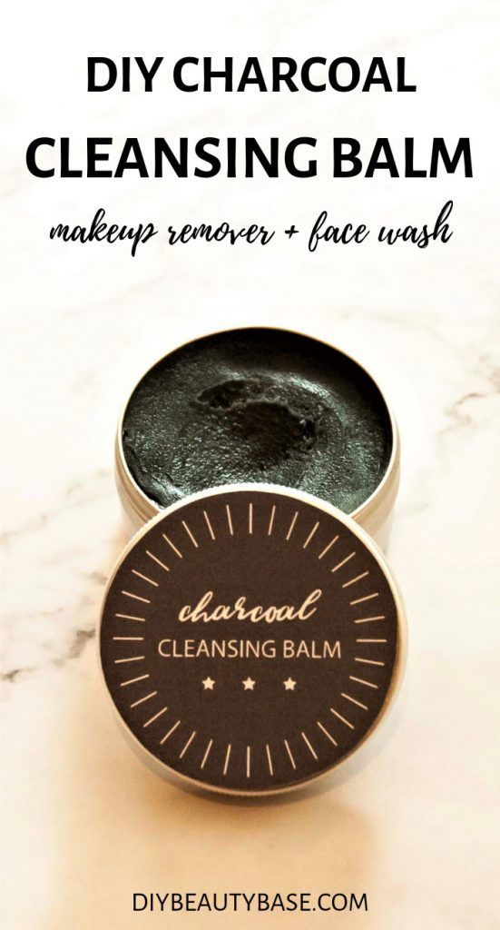 DIY Charcoal Cleansing Balm (Emulsifying