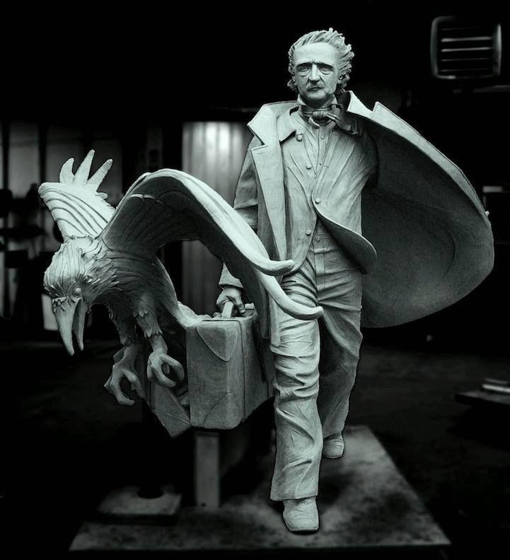 Amazing Edgar Allan Poe statue.