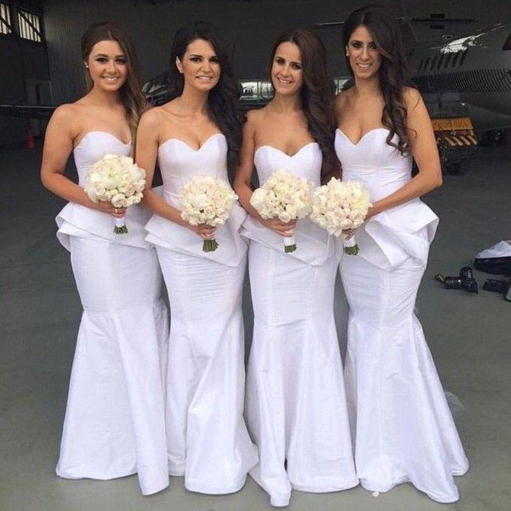 Trendy Lavender Bridesmaid Dress with Pleat Peplum Mermaid Satin Sexy Sweetheart Neckline Long Maid Of Honor