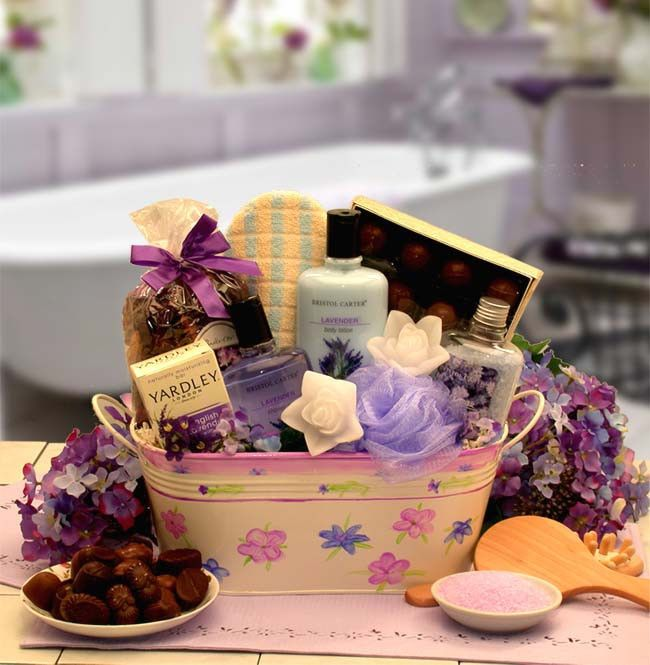 Tranquility Bath And Body Spa Gift ~ This Lovely Floral Planter Brings Gifts  Of Candles, Chocolates And Bath Accessories To Create A Truly Tranquil  Moment.