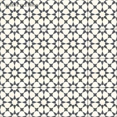 Agadir White Cement Tile Shop Parlour Bathroom