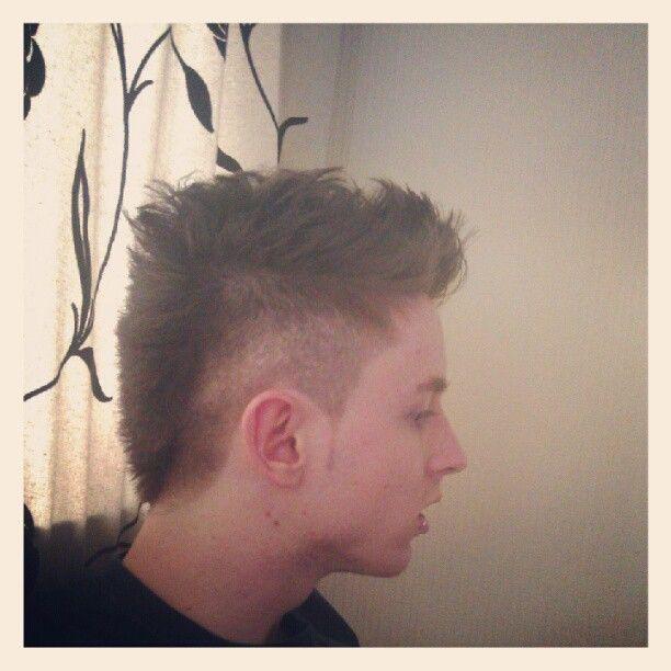 new neymar inspired (kinda, basically just a bit mohawky) haircut