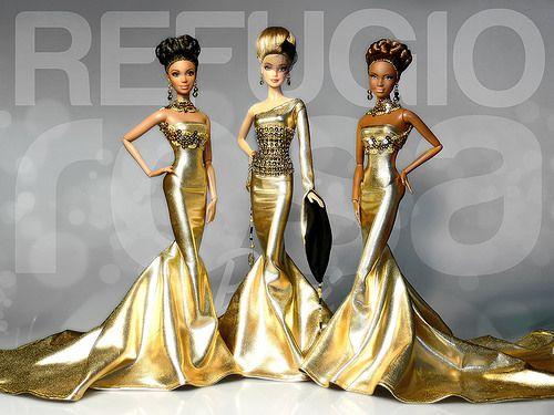 Refugio Rosa Gold Treasure Collection Barbie Dolls 2014