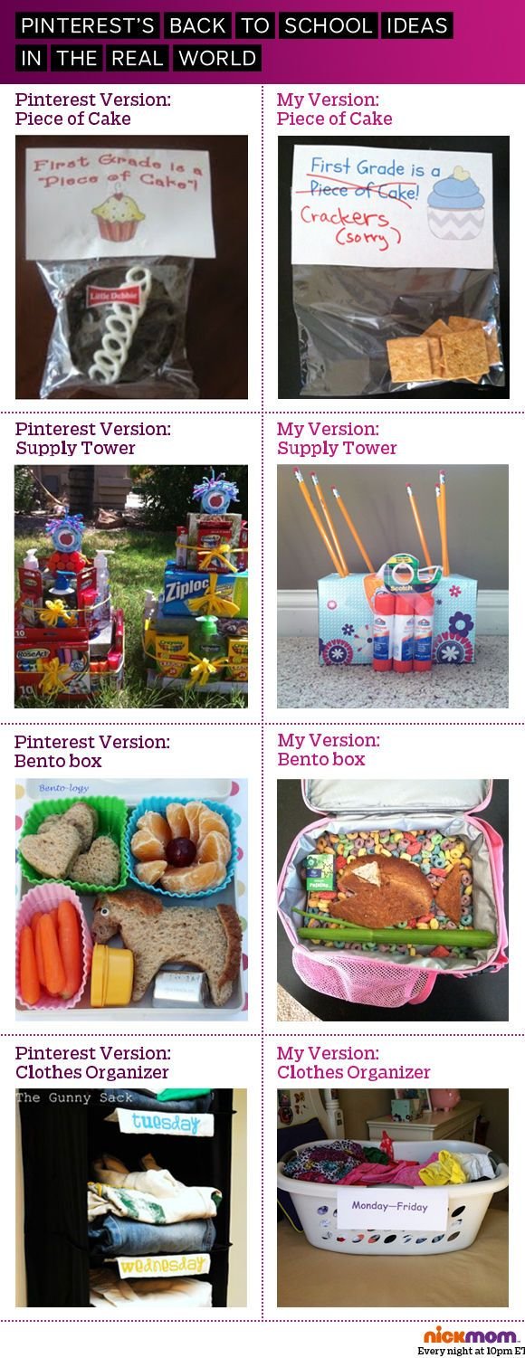 Pinterest is good for a lot of things, but depicting an accurate version of everyday mom-life isn't necessarily one of them. #school
