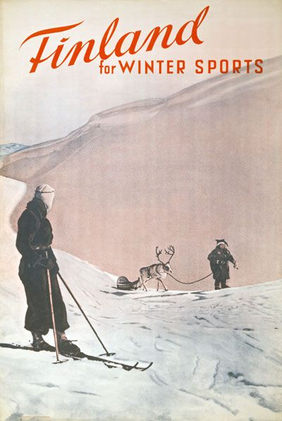 TX16 Vintage 1930's Finland for Winter Sports Travel Poster re Print A4 | eBay