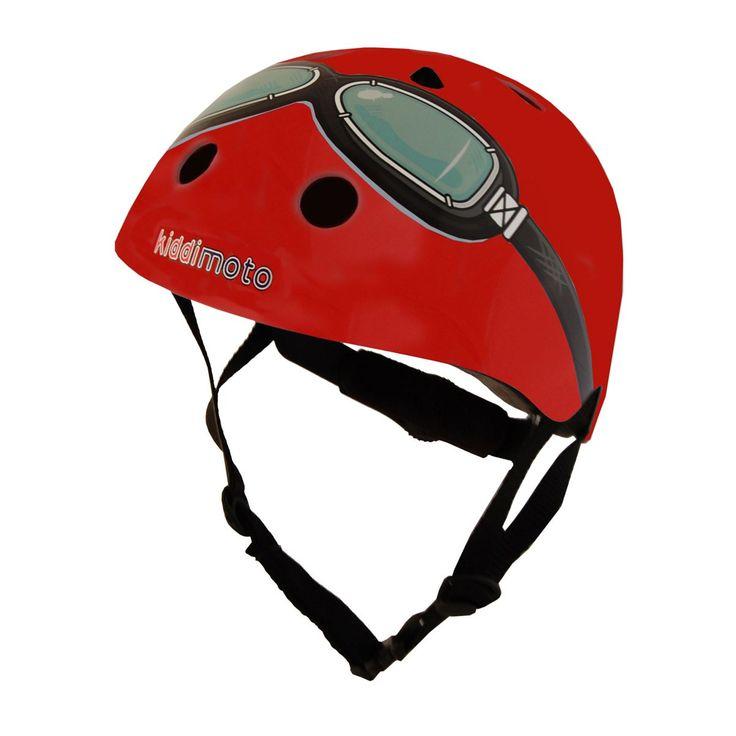 Kiddimoto Helmets - Kiddimoto Kids Helmet - Red Goggle