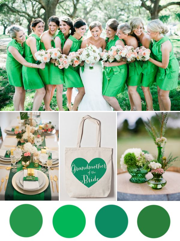 Kelly Green Wedding Color Inspiration from the Wedding Bags blog