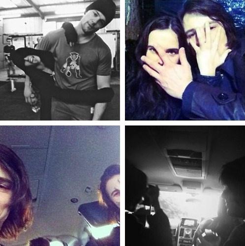 Zoey Deutch & Danila Kozlovsky during filming of VA: Blood ...