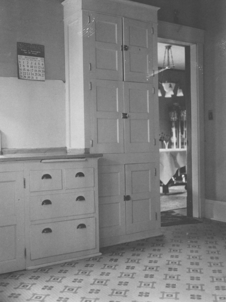New kitchen cabinets, 1919