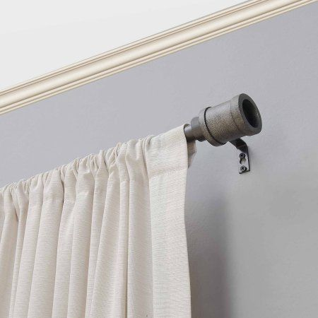 Better Homes And Gardens Industrial Pipe 34 Inch Curtain Rod Black
