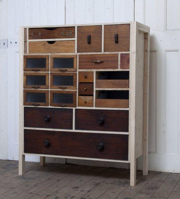 шкаф из старых ящиков, Rupert Blanchard