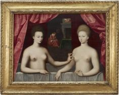 I adore this painting 1st viewed in 1974 Magnifique . Gabrielle d'Estrées and One of Her Sisters | Louvre Museum | Paris