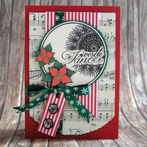 Velesé Vánoce, vánoční přání noty. margotkab