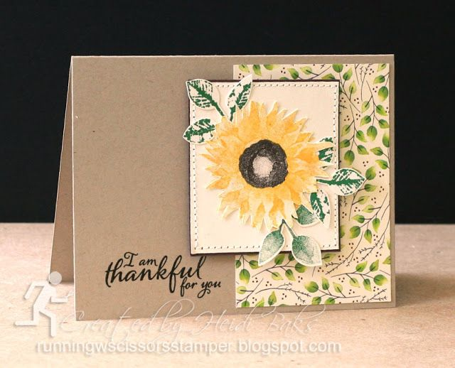 Stampin' Up Painted Harvest by #RunningwScissorsStamper, Painted Autumn DSP, Leaf Punch