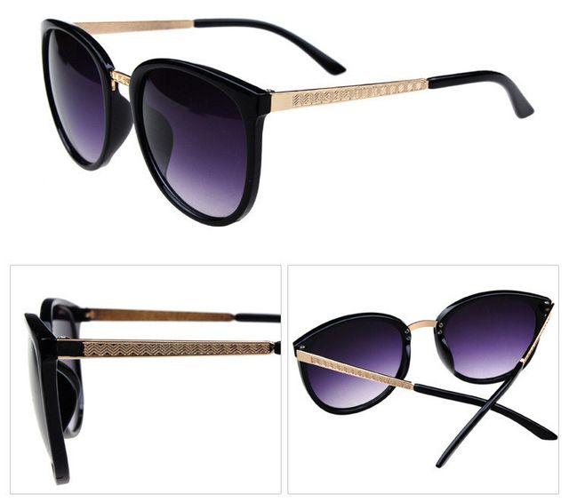 Yeni 2014 moda bağbozumu Büyük Lensler marka tasarım Metal güneş gözlüğü Lüks retro kadın yuvarlak güneş gözlükleri gafas oculos de sol