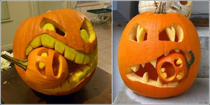 funny and great pumpkin decor