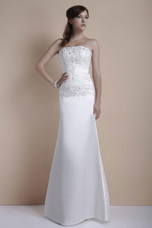 14 best dress images on pinterest wedding frocks bridal for Simple elegant wedding dresses second wedding