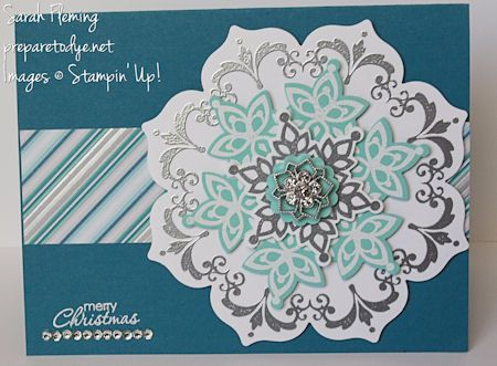 Festive Flurry with Daydream Medallions - Stampin' Up! - Stampin up - Sarah Fleming