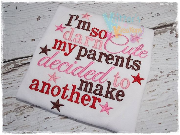 Cute Announcement T for Child if I ever decide to have a second!