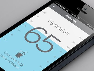Hydration monitor mobile iOS app | UI design