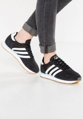 save off 32433 6e6b8 adidas Originals Haven Trainers Low Of Core BlackWhiteIcey Blue For Mens  And Womens