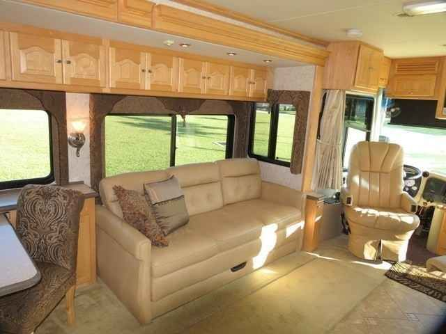 2006 Used Tiffin Motorhomes Allegro Bus 40' QSP Class A in Florida FL.Recreational Vehicle, rv, PRICE REDUCED. $20,000 below average NADA retail. Divorce forces sale of this Diesel Pusher coach is loaded with beautiful lite and airy clear finished Rock Maple hardwood cabinetry, 4 spacious slide outs, ultra leather driver and passenger seats and two sofas, tile floor in all areas except bedroom. The driver's cockpit is fully equipped tilt VIP SmartWheel with cruise, windshield wiper and head…
