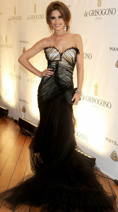 Cheryl Cole wearing Roberto Cavalli at Cannes 2010.  What a dress!!! I love tulle! Black Tulle over Short Dress