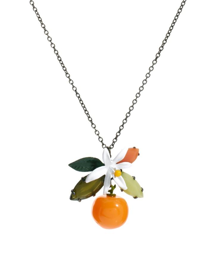 Les Nereides orange necklace on ASOS.