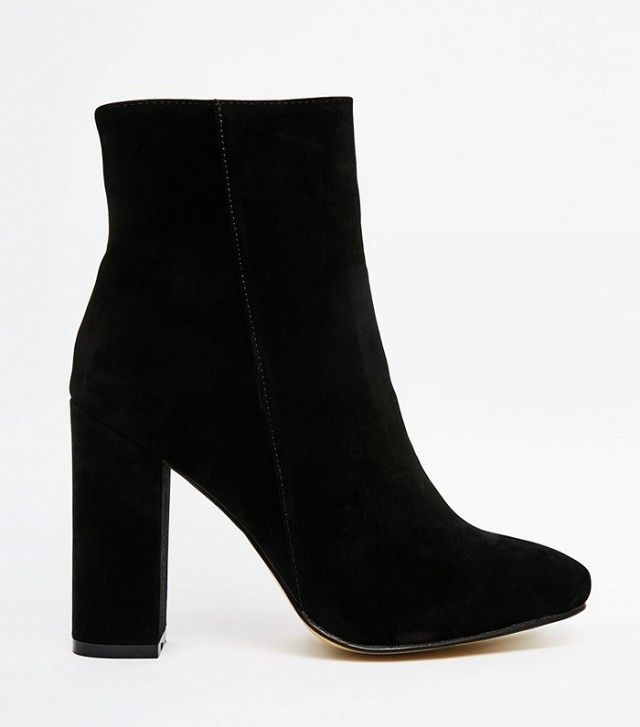 Public Desire Sofie Black Heeled Ankle Boots