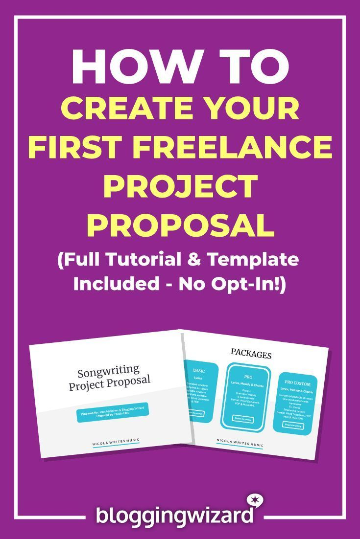 How To Create Your First Freelance Project Proposal The Definitive Guide Freelance Writing Freelance Blogging Project Proposal