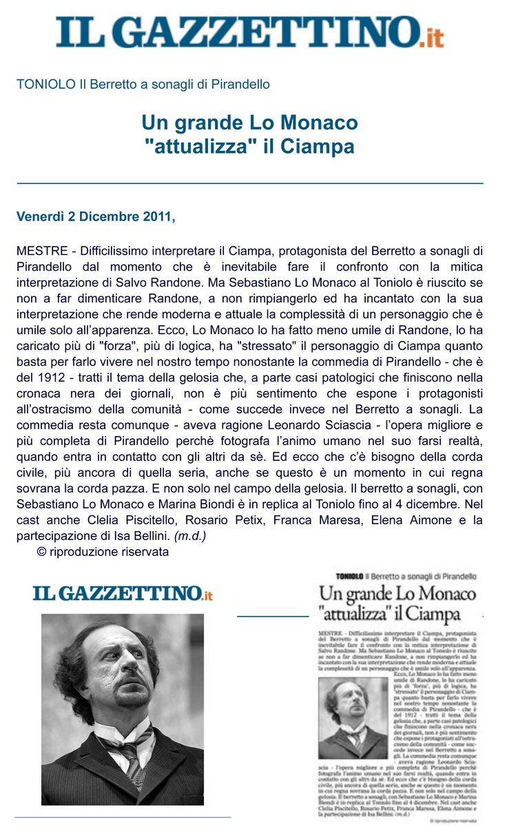 2 dicembre 2011 - Il Gazzettino