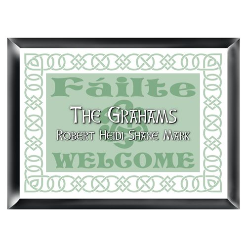 Unique Personalized Traditional Irish Linen Family Name Wall Sign This Custom Decor Will Make A Great St Patricks Day Gift For The Irishman