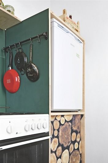 GALERIE: Proměna kuchyně v pronájmu: Vtipné nápady, jasné barvy, retro nádobí | FOTO 6 | Blesk.cz