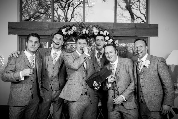 #Groom and #Ushers at #wedding at #Oldwalls #Gower