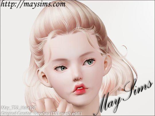 Mayims: 심즈3 헤어 (Sims 3 Hair) - May_TS3_Hair12F
